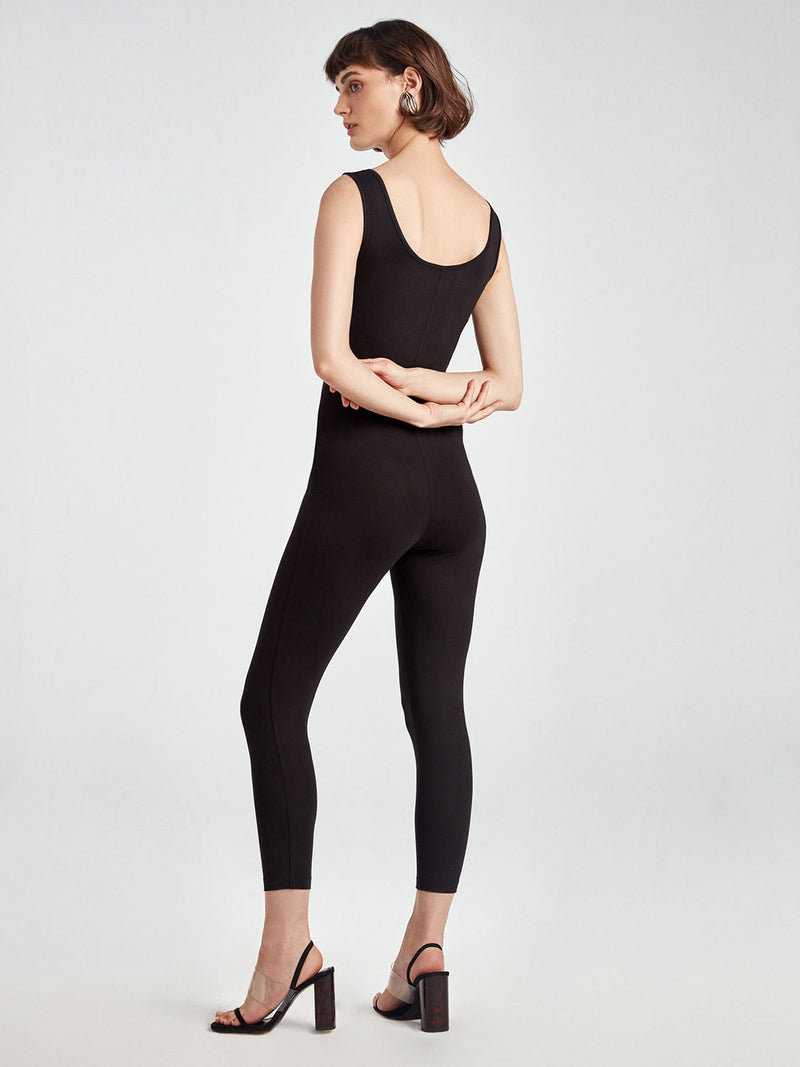 Nocturne Jumpsuit Knit N/Sl Black - Wardrobe Fashion