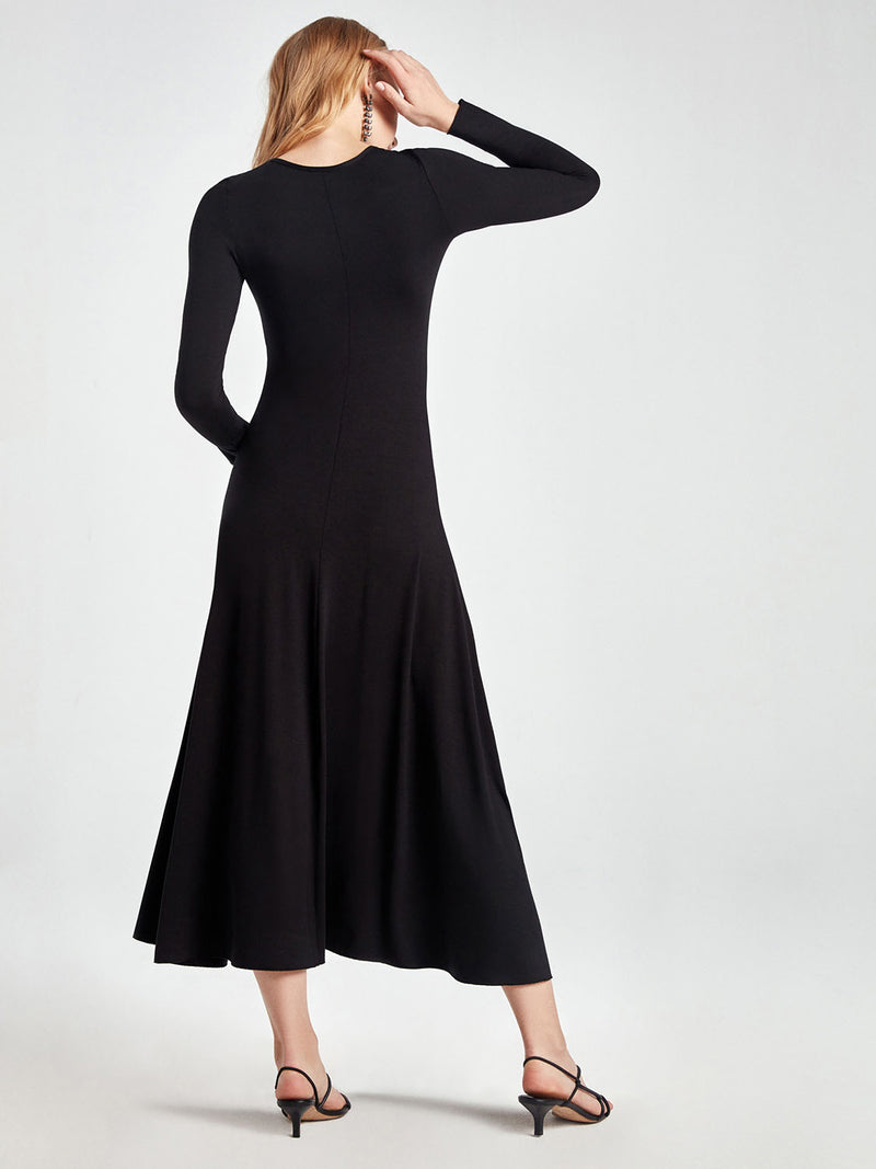 Nocturne Dress Knit L/Sl Black - Wardrobe Fashion
