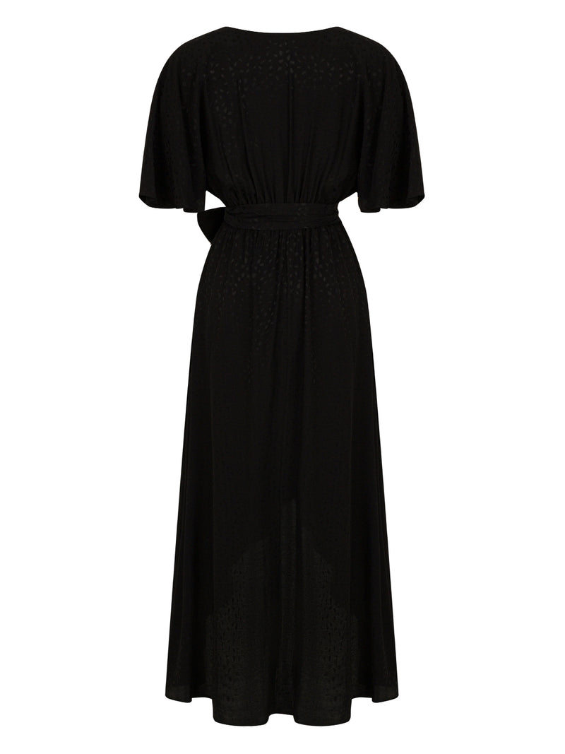 Nocturne Dress Flayered Wide S Black - Wardrobe Fashion