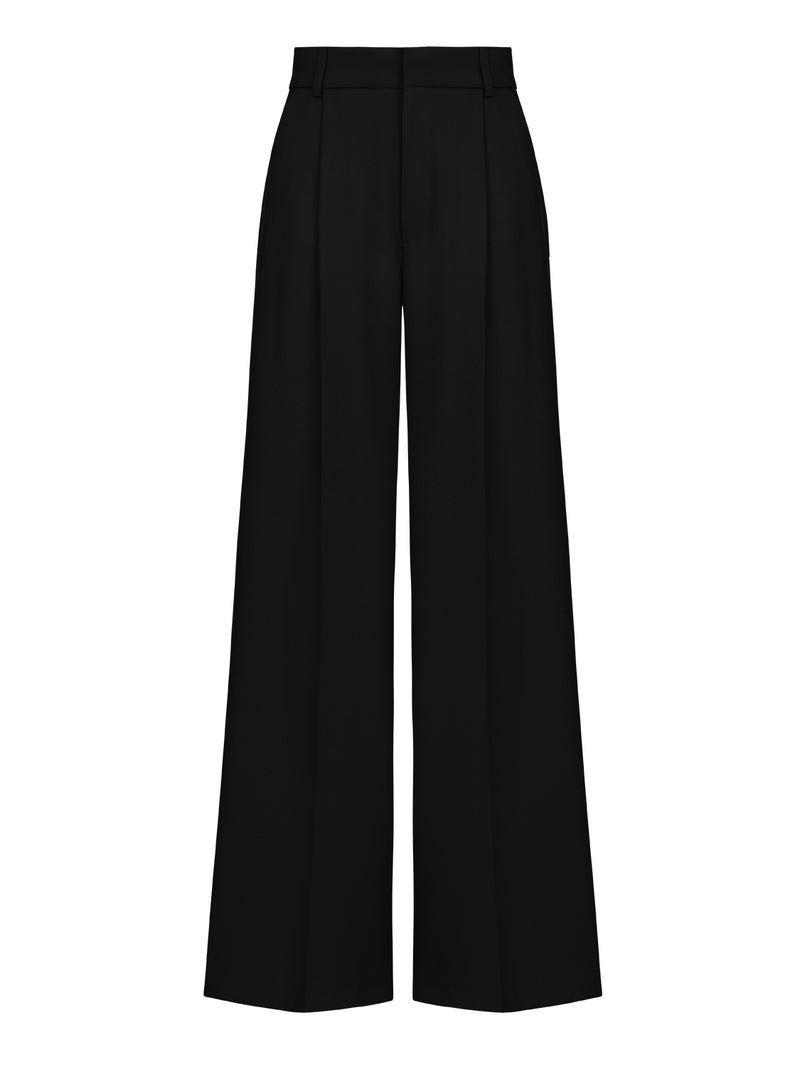 Nocturne High Waist Palazzo Trouser Black