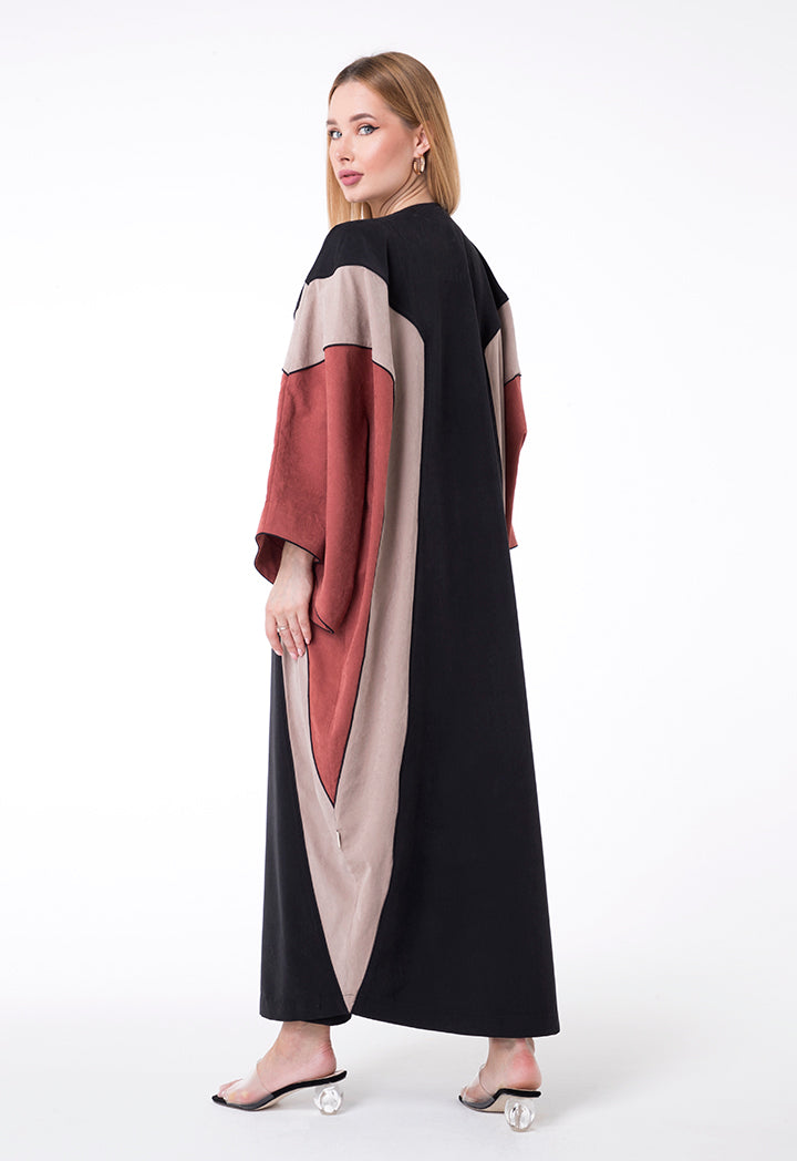 Overlay Dress Triangle Bisht Style Mustard
