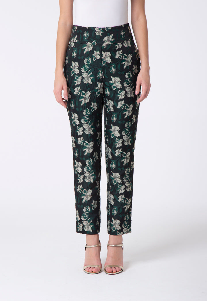 Choice Floral Jacquard Trouser Multi Color