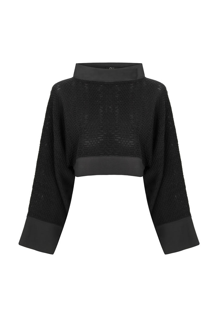 Nu Sweater Asseymetri Black - Wardrobe Fashion