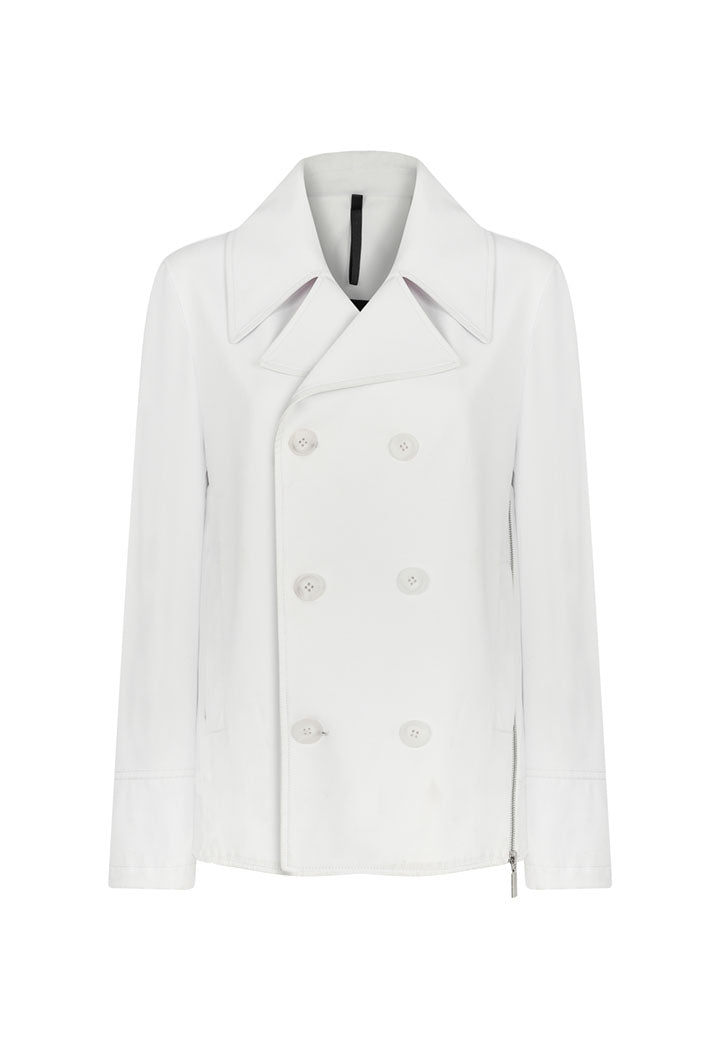 Nu Jacket Short White - Wardrobe Fashion