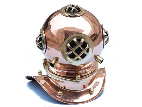 Copper Decorative Divers Helmet - Nautical Decor - Home Accessories