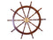 Deluxe Class Wood and Brass Decorative Ship Wheel - Nautical Decor