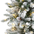 Flocked Livingston Fir Artificial Christmas Tree With Pine Cones | Seasonal