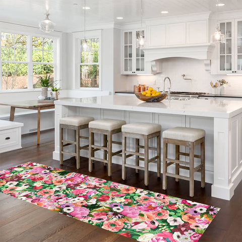 Haute House Floral - Runner Floor Cloth