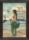 Mermaid with Tattoo Framed Print