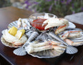 Pewter Marine Life Serving Tray - Coastal Decor - Decorative Trays