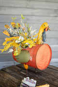 Recycled Metal Turkey Cooler/Planter - Seasonal