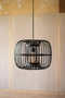 Round Black Bamboo Pendant Lamp | Island Decor | Home Accessories
