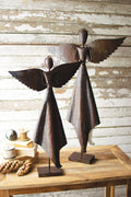 Rustic Metal Christmas Angels Set of 2 - Seasonal