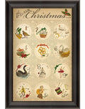 The 12 Days of Christmas Framed Print