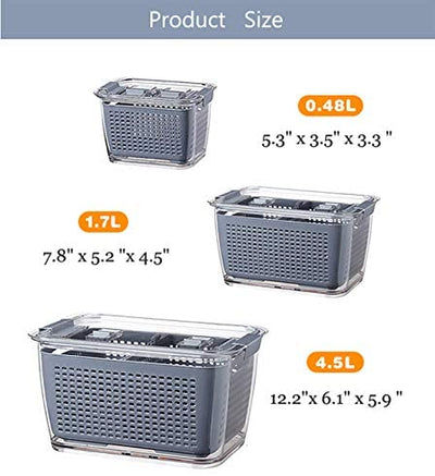 Fresh Produce & Vegetable Fruit Storage Containers