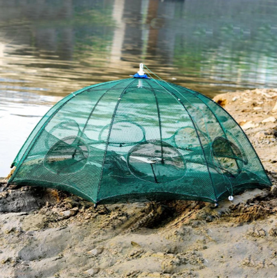 Multi-Trap Fishing Net
