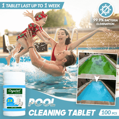 3x - CrystalClear™ Pool Cleaning Tablets (300 PCS)