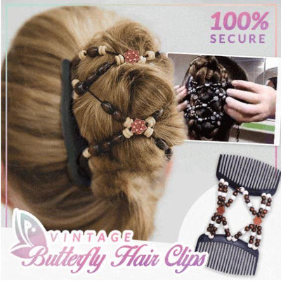 Vintage Butterfly Hair Clips - Members Only