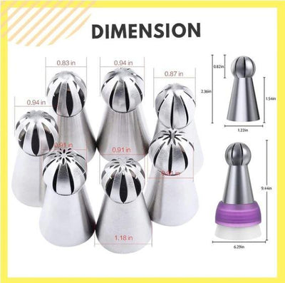Cake Decor Piping Nozzle Set - FREE with Members Only Coupon