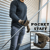 Portable Martial Arts Metal Magic Pocket Bo Staff