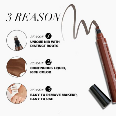 4-Point Waterproof Eyebrow Filling Pen -  Free with Members Only Coupon