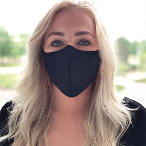 Smart Fiber Fabric Mask – Black  (as low as $4.10 per mask)