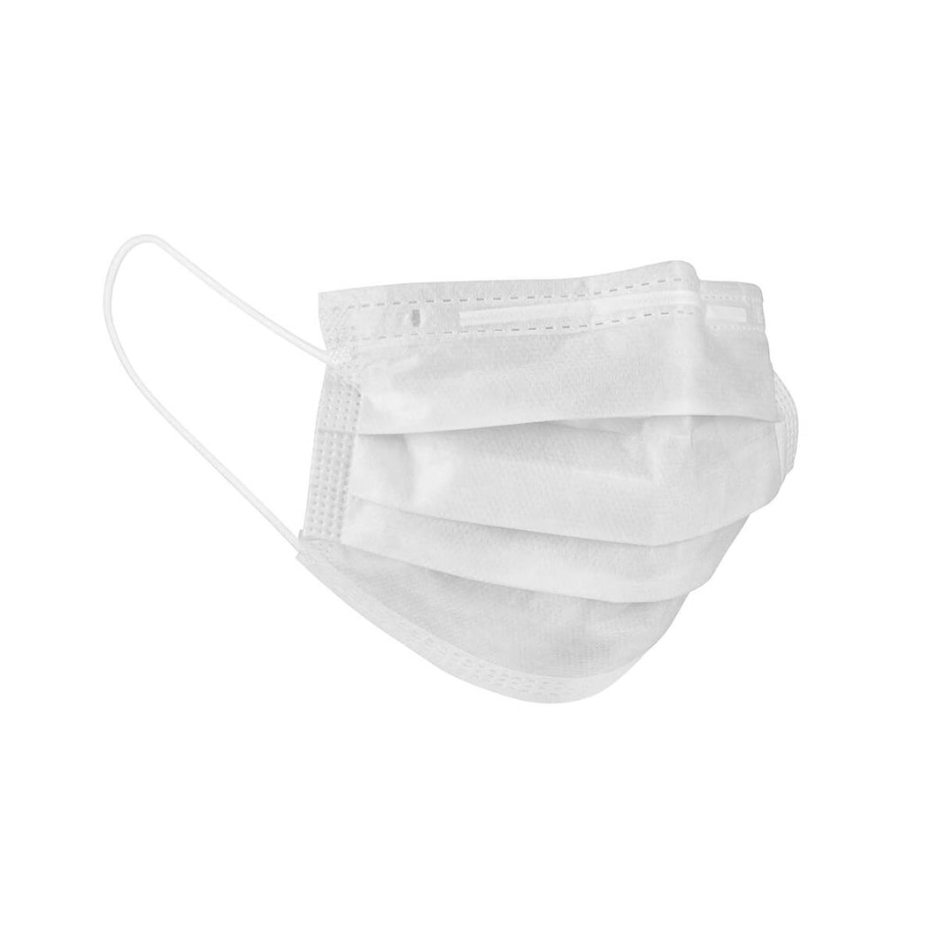 2241 - Medical Grade Disposable Face Masks with Ear Loop, Non-woven, 3Ply – White