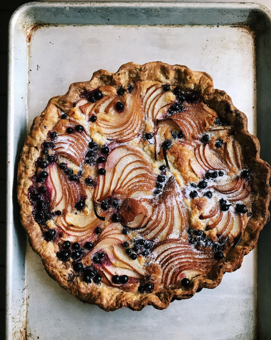 Pear & Black Currant Frangipane Tart