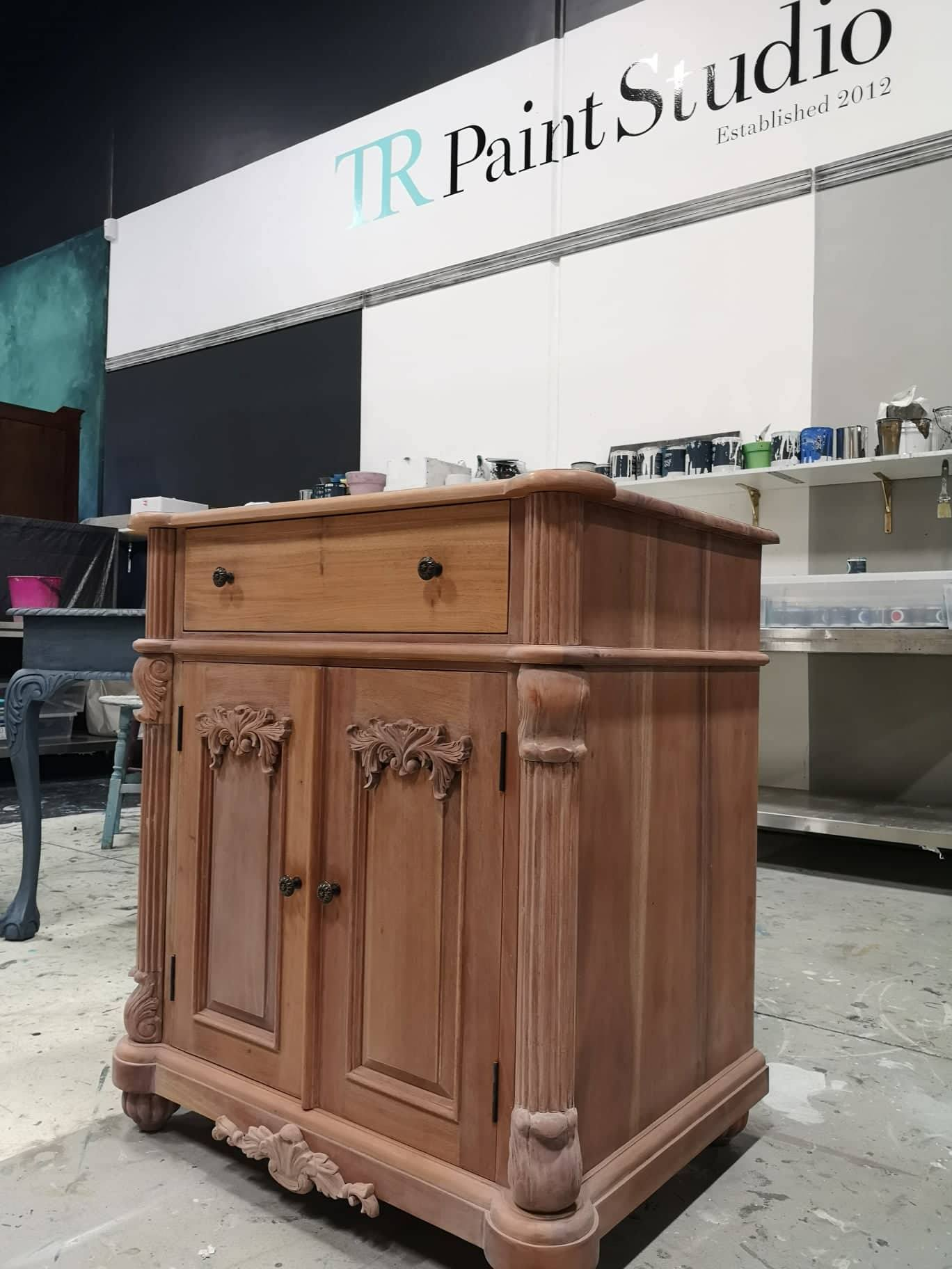Commissioned Black and Rose Gold Vanity