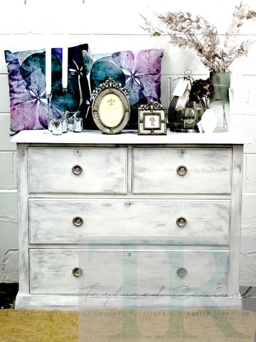 Commissioned Set of Drawers Pure White and Paris Grey