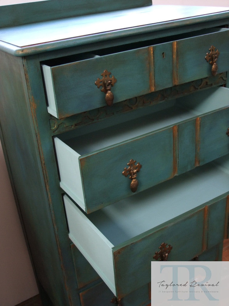 Arial - Beautiful Solid Mahogany Antique set of drawers