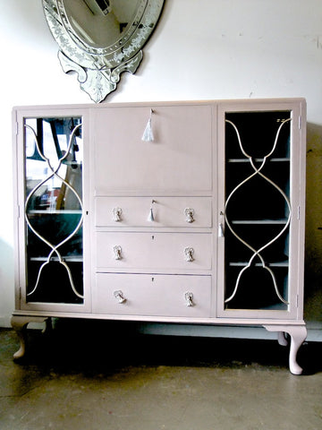 Commissioned Book Case in Antoinette and Paris Grey