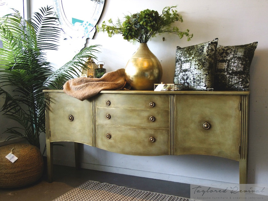 Carli - Hand painted textured rustic sideboard