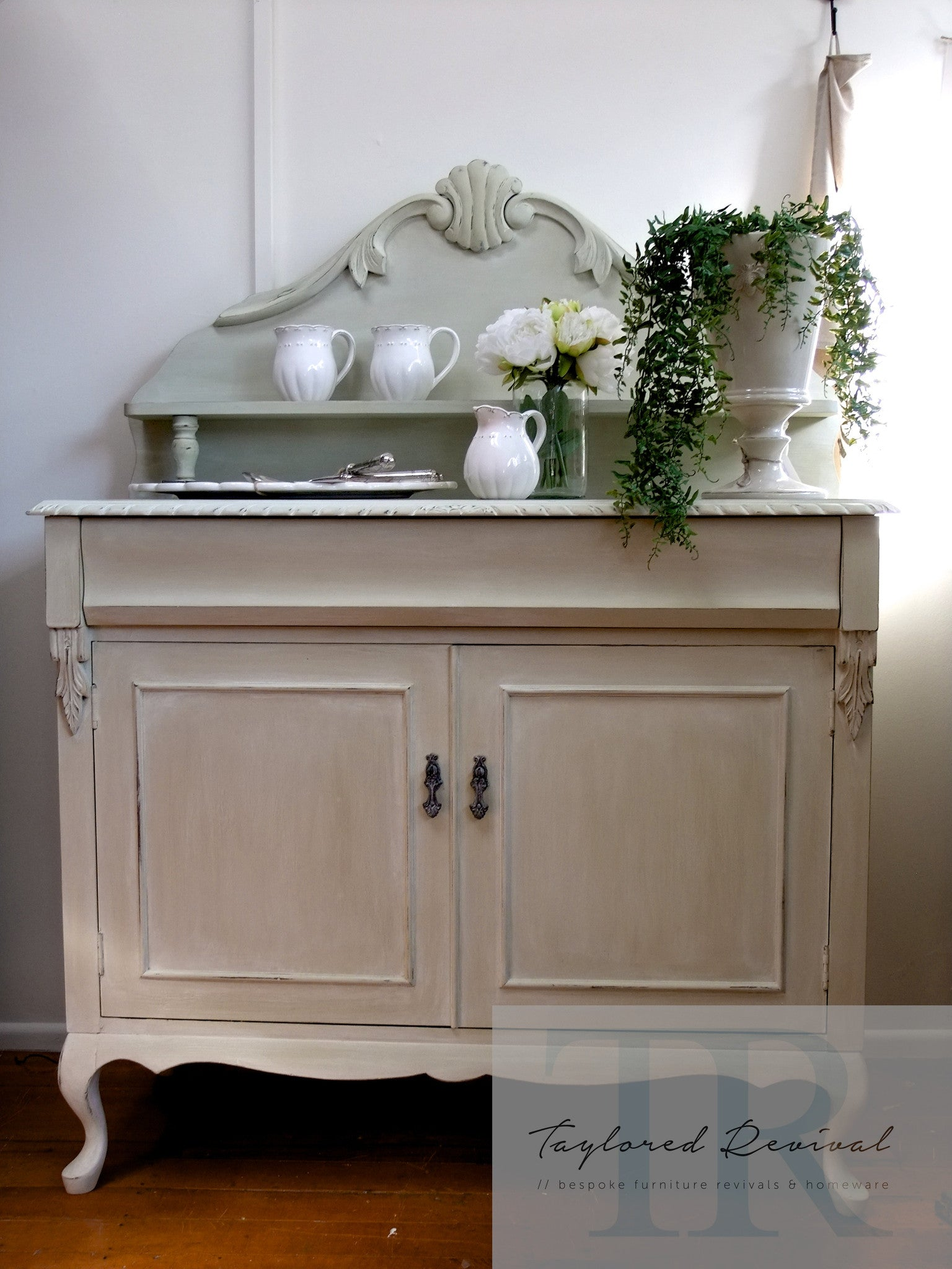 Commissioned Chiffonier in a custom blended Versailles