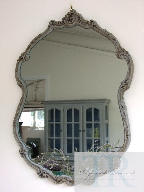 Clara - Solid Vintage ornate oval mirror