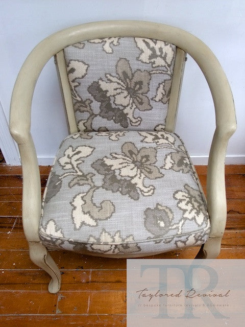 Commissioned chair and table set in Country Grey