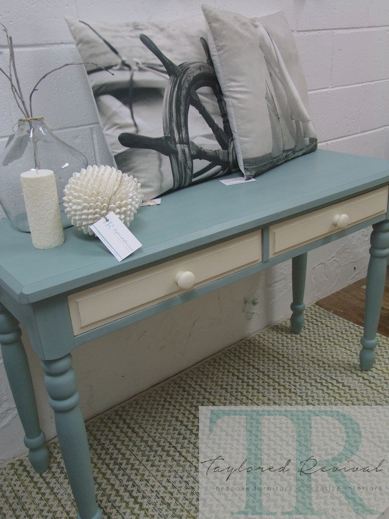 Commissioned Hall Table in duck egg blue