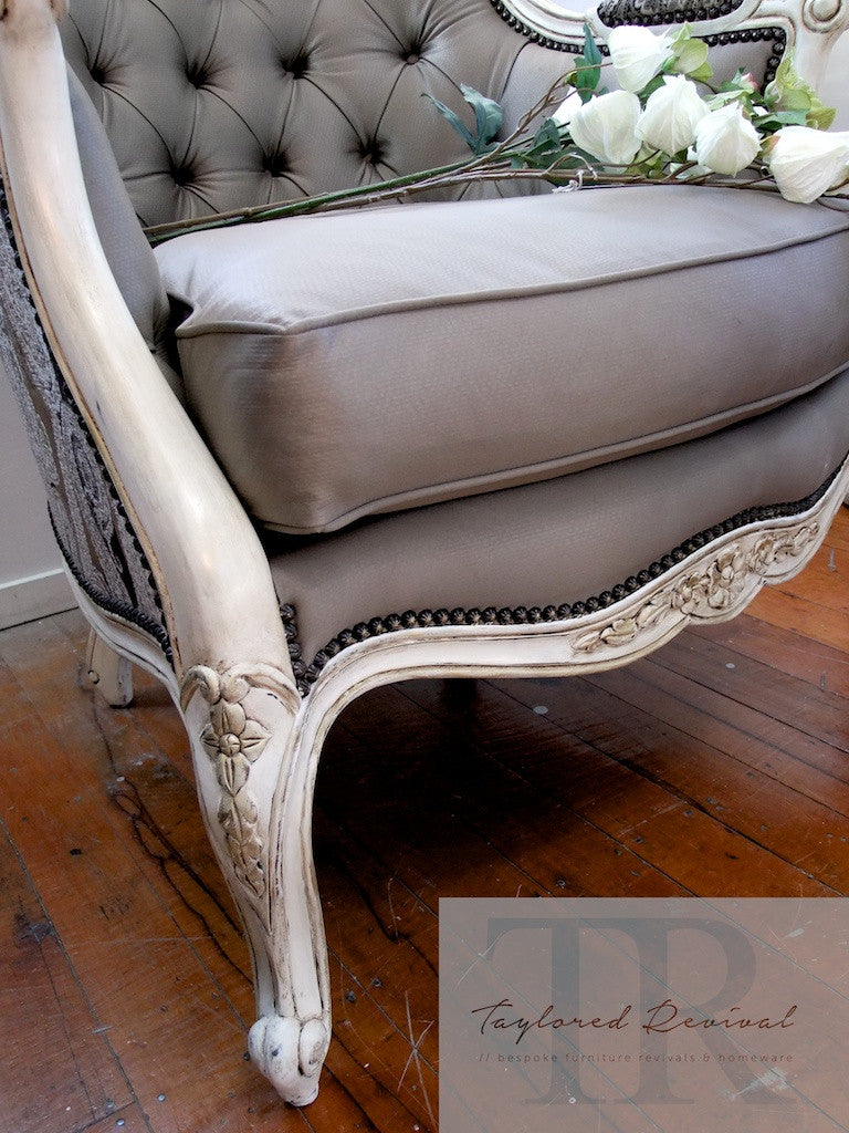 Commissioned French Style Chair in Old White
