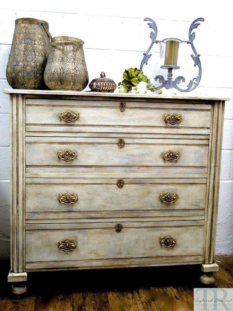 Commissioned Dresser in a two colour distressed finish