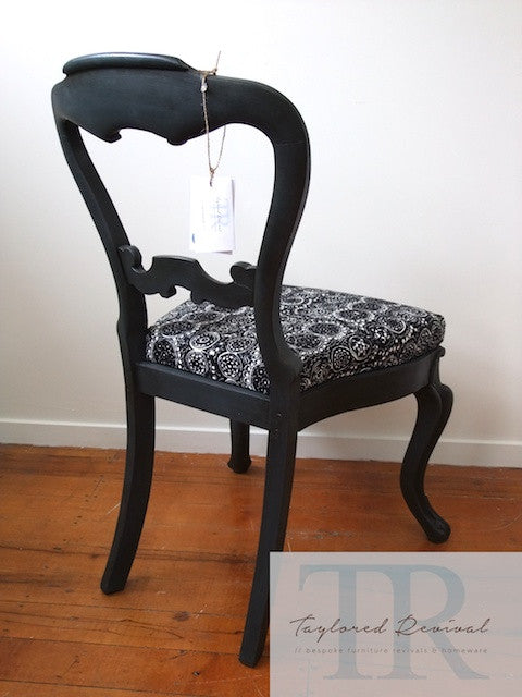 Genevieve - hand painted victorian chair with marimekko