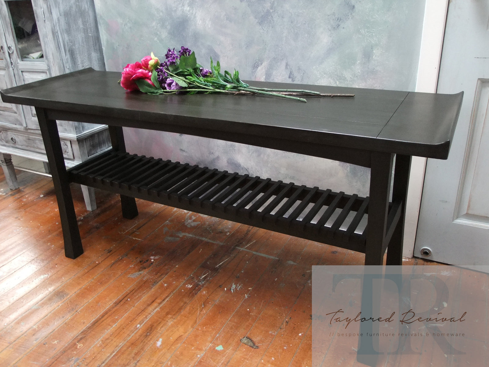 Commissioned hall table in Graphite