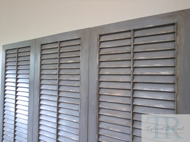 commissioned headboard shutters