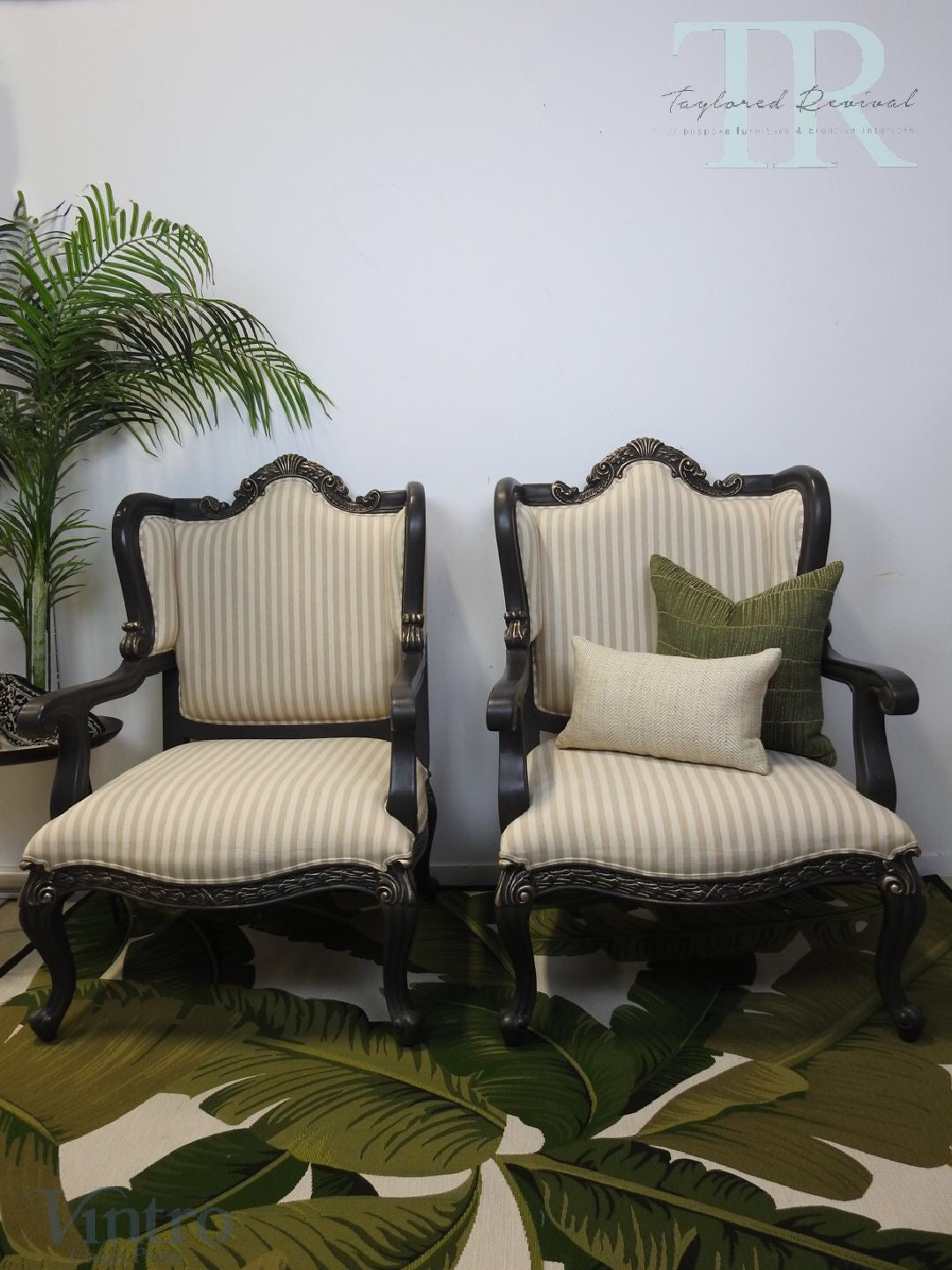 Commissioned French Style Arm Chairs