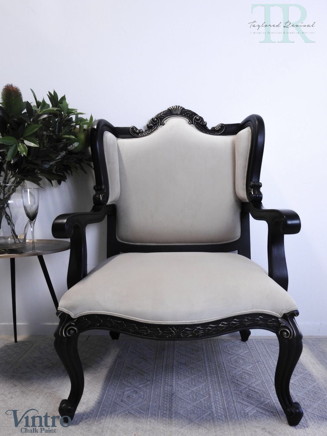 Commissioned french style armchairs