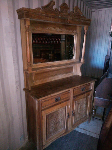 TR-104 Mirror-Back Sideboard Walnut  1920s