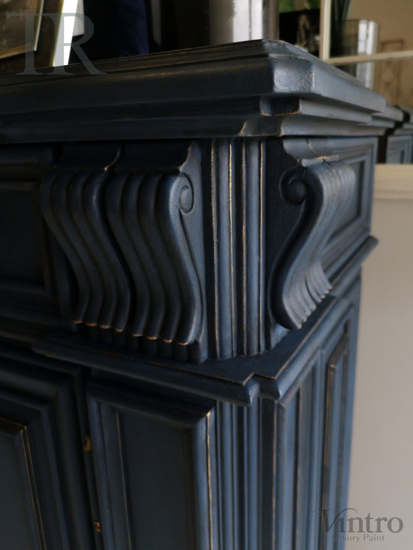 Commissioned Sideboard in Dark Vintro Navy Blue