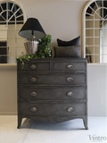 Tia : Bow Front Mahogany Chest of Drawers