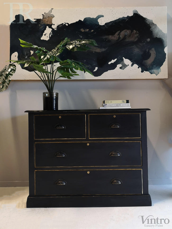 Commissioned Set of Drawers in Victorian Black