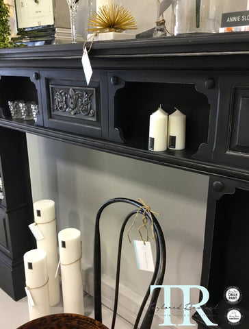 Sabrina : Oak Fire Surround in Antique Black