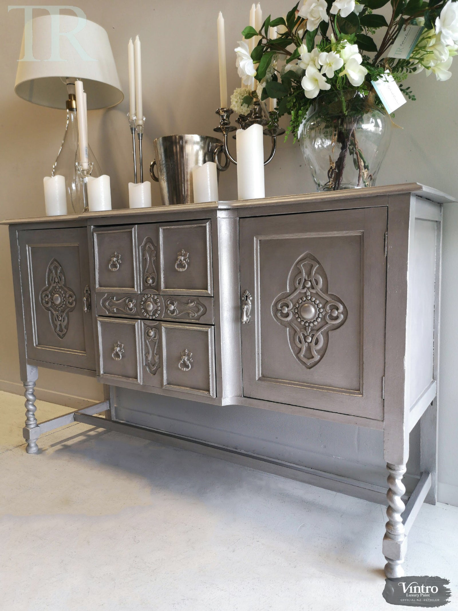 Cassandra Hand painted Antique Sideboard (currently on hold)